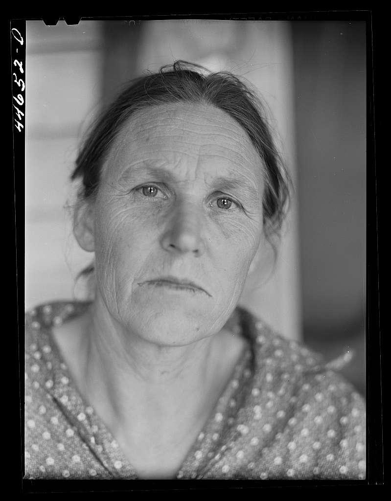 Tenant farmer's wife near Penfield, Greene County, Georgia