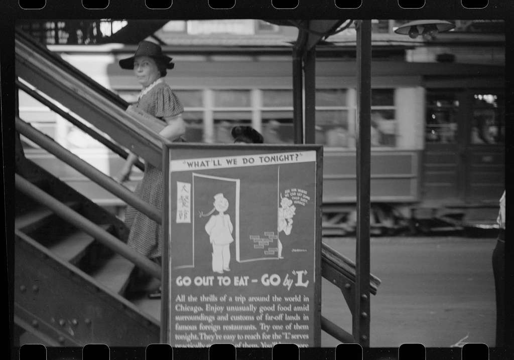 Untitled photo, possibly related to: Ascending steps of El, Chicago, Illinois