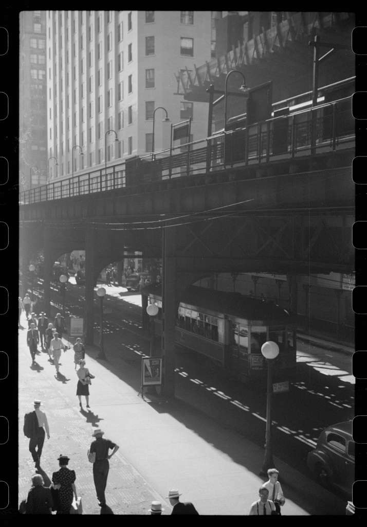 Untitled photo, possibly related to: Five o'clock crowds, Chicago, Illinois