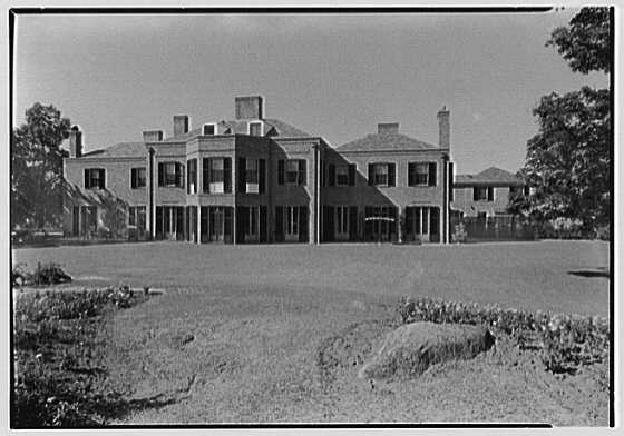 Wadsworth R. Lewis, residence in Ridgefield, Connecticut. Rear facade
