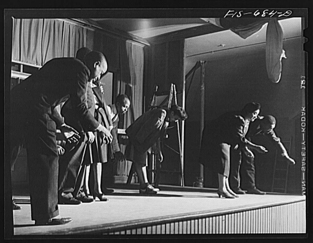 Chicago, Illinois. Good Sheperd Community Center. Players rehearsing a new play by Langston Hughes