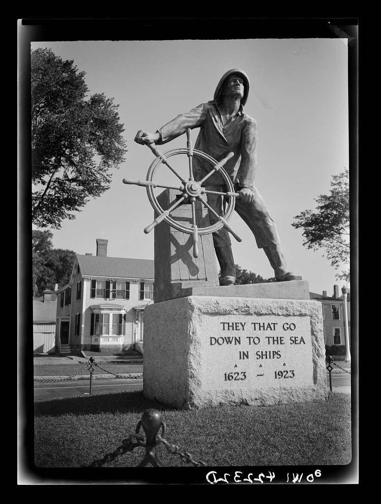 Gloucester, Massachusetts. A monument erected as a tribute to fishermen