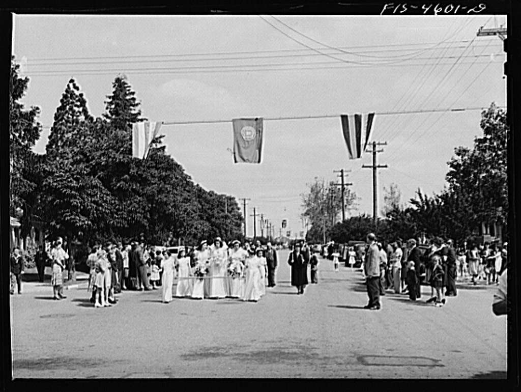 Parade of the fiesta of the Holy Ghost. Santa Clara, California