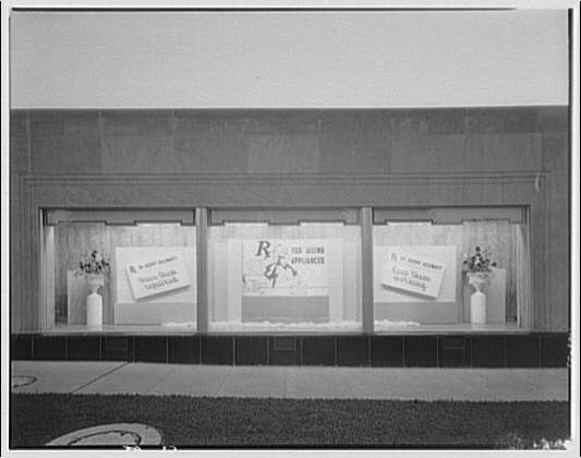 Potomac Electric Power Co. substations. Substation no. 38 window display: Rx for ailing appliances