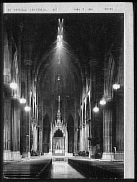 Seventy-one years, or, My life with photography. St. Patrick's cathedral, May 7, 1942