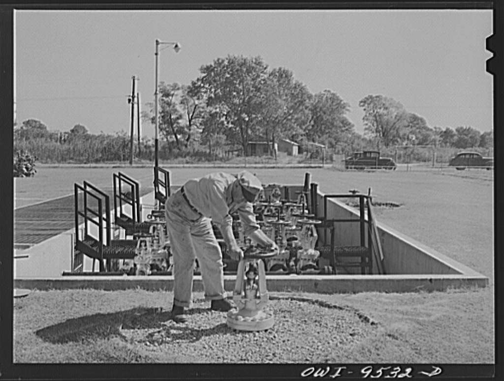 Tulsa, Oklahoma. Operating a gate valve which controls the flow of refined products through the Tulsa station of the Great Lakes pipeline. This line sends gasoline from Oklahoma to Minneapolis