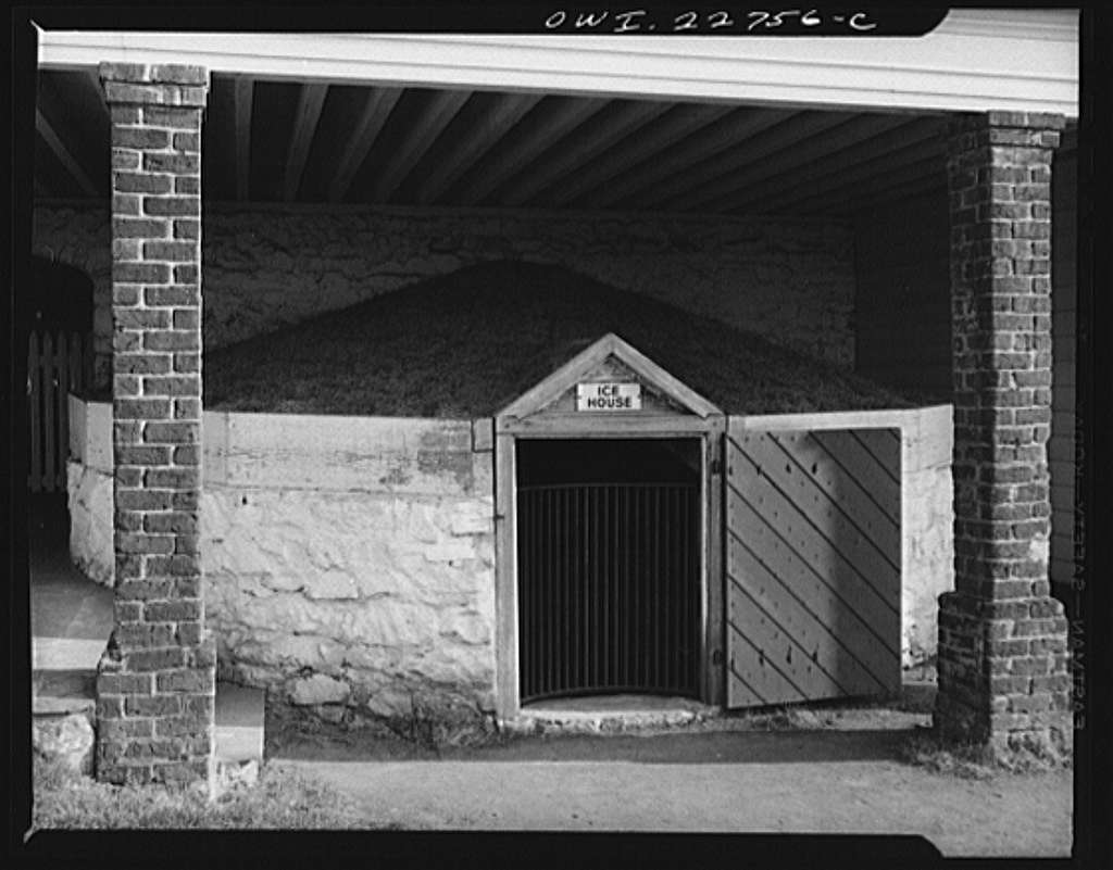 Charlottesville, Virginia. Ice house at Monticello, home of Thomas Jefferson