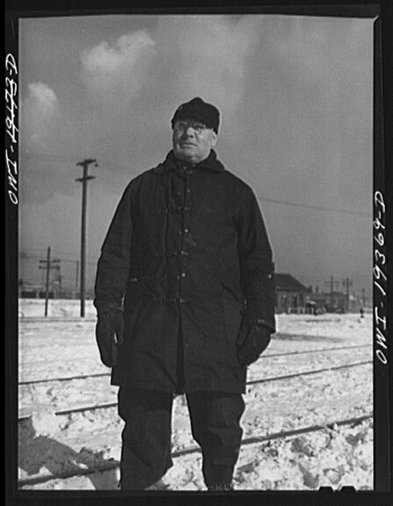 Chicago, Illinois. G.A. Pickerell, switchman at the Corwith Railroad yard