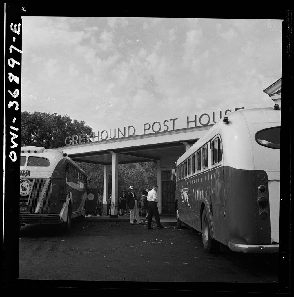 New Bedford, Pennsylvania. A rest stop for Greyhound buses