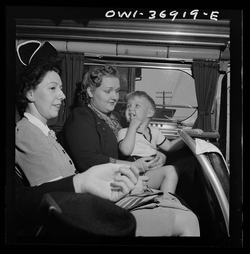 Passengers on a Greyhound bus going from Washington, D.C. to Pittsburgh, Pennsylvania