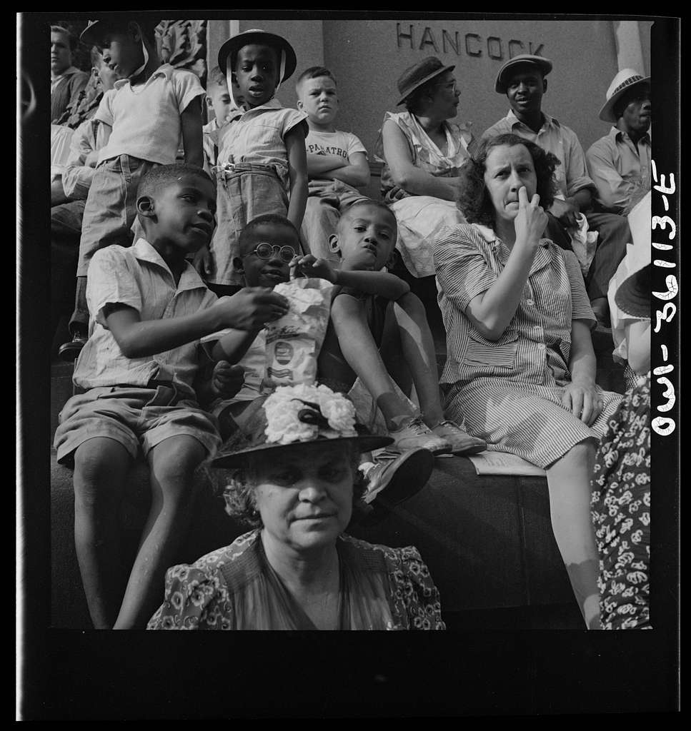 Washington, D.C. Spectators at the parade to recruit civilian defense volunteers