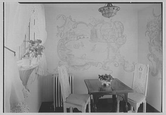Albert P. Armour, residence at 123 Greenway North, Forest Hills, New York. Breakfast room