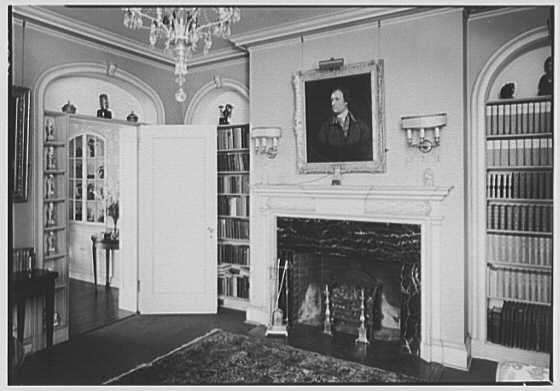 Harmon Spencer Auguste, The Ledges, residence in Harrison, New York. Library