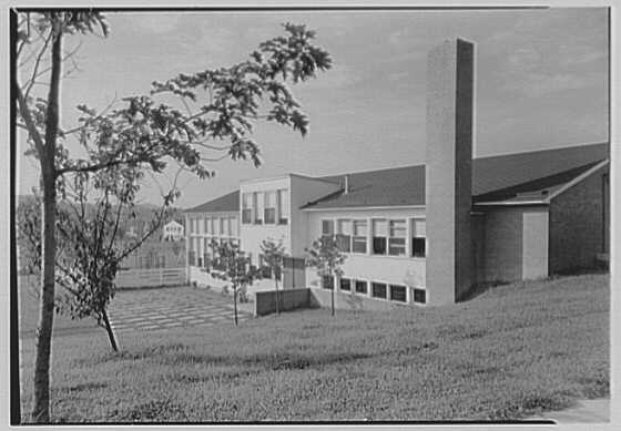 Pine Ford Acres Community Building, Middletown, Pennsylvania. Rear facade I