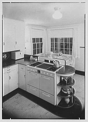 Harold Henry, residence in Eden, New York. Kitchen, to window