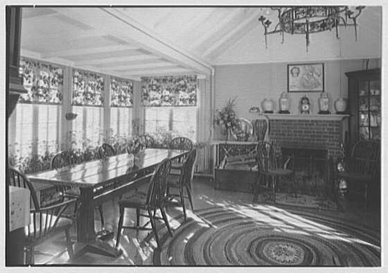 Mrs. Walter Douglas, residence in Dobbs Ferry, New York. Dining room