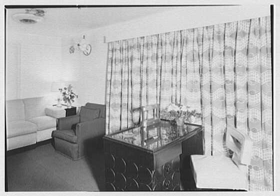 Steamship America, United States Line, 1 Broadway, New York City. Sitting room M20