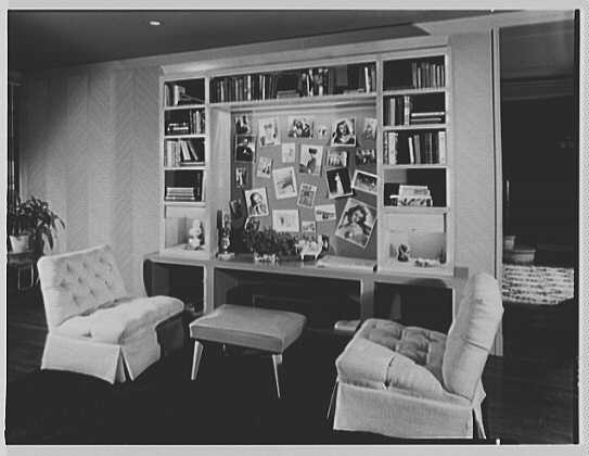 Mr. and Mrs. J.S. Werner, residence at 96-25 Ladue Rd., Saint Louis, Missouri. Cabinet and bookcase