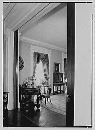 Bartow Mansion, Pelham, New York. Living room piano