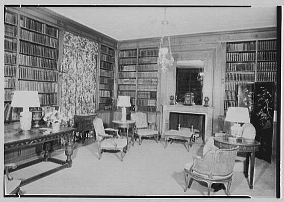 General Dwight D. Eisenhower, residence at 60 Morningside Drive, New York City. Library