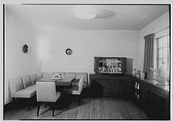 Mr. and Mrs. Deak, residence at 14 Devon Rd., Larchmont, New York. Dining room