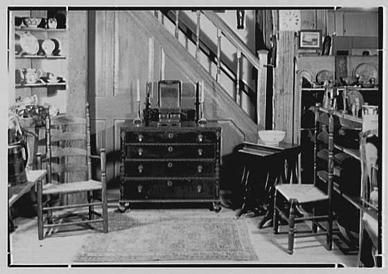 Mrs. Lawrence J. Ullman, business in Tarrytown, New York. Group under staircase