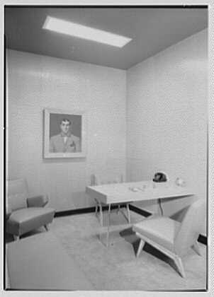 Sherman Bow Ties, business at 1200 Broadway, New York City. Mr. Sherman's office
