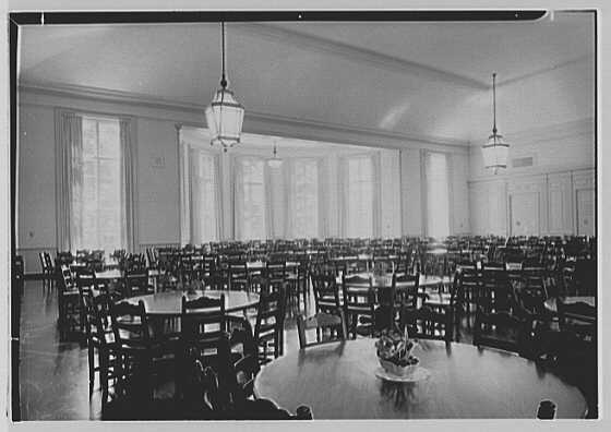 Deerfield Academy, Deerfield, Massachusetts. Dining hall dining room