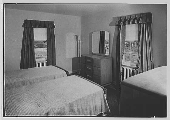 Lockwood Village, Roselle, New Jersey. Three and one half room apartment, bedroom
