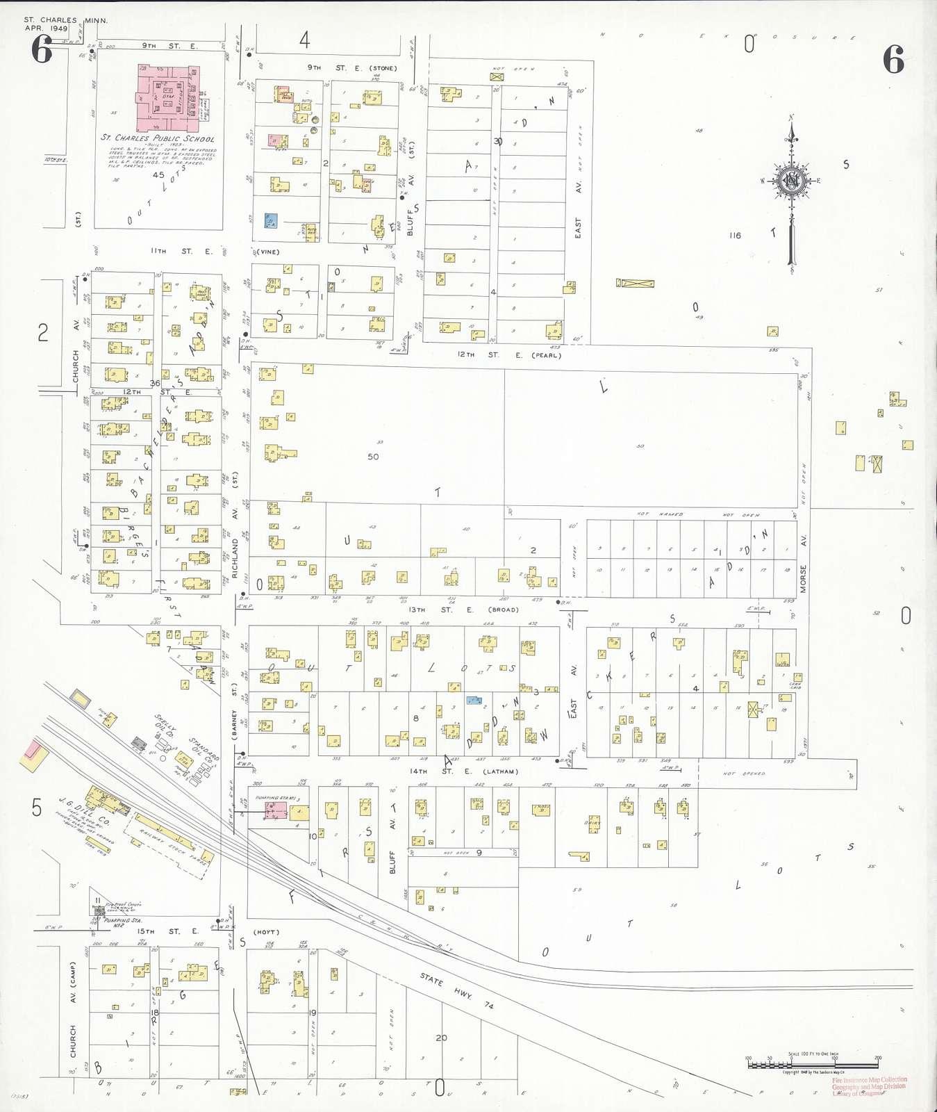 Sanborn Fire Insurance Map from Saint Charles, Winona County, Minnesota