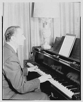 Bertram Wolfe, residence at 138 E. 62nd St., New York City. Serge Walter at piano