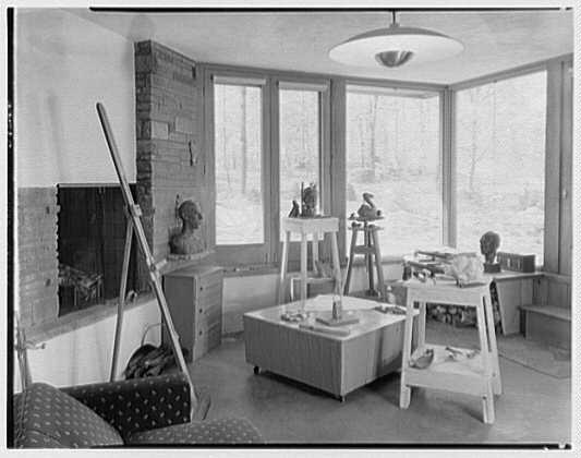 Frederick Greenberg, residence on Sawmill Hill Rd., Ridgefield, Connecticut. Studio
