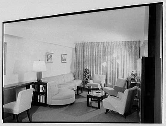 S. Kux, residence at 11 Riverside Dr., New York City. Living room, general