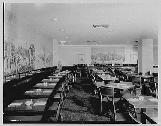 Schrafft's, 990 Madison Ave., New York City. Mural in dining room II
