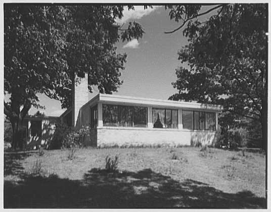 George Parkman Denny, residence on Bacon Rd., Old Westbury, Long Island. Exterior detail II