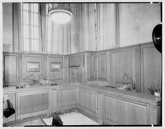 Seamen's Bank for Savings, 74 Wall St., New York City. Bond department