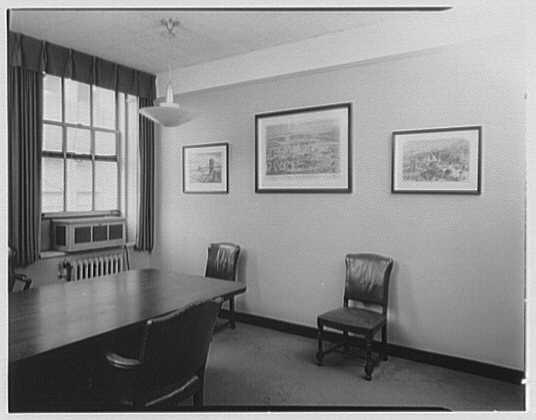 Seamen's Bank for Savings, 74 Wall St., New York City. Mr. Crane's office