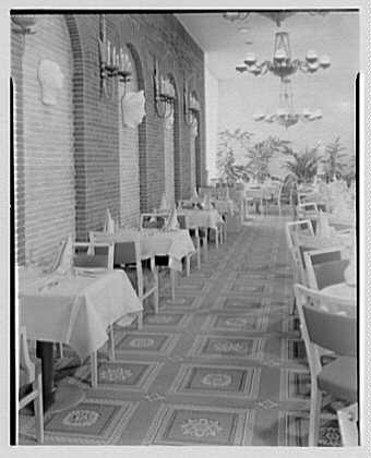 Continental Restaurant, Paramus, New Jersey. Carpet detail