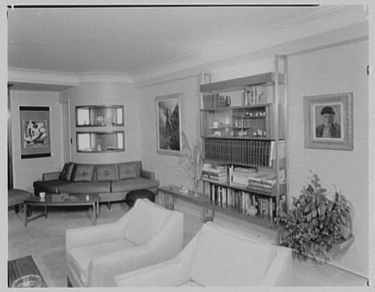 Mr. and Mrs. D. Morgenstein, residence at 1056 5th Ave., New York City. Living room I