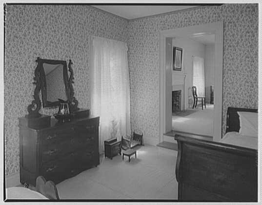 Andrew Johnson, residence in Greeneville, Tennessee. Child's room, to guest room