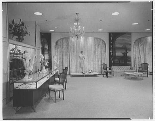 Higbee Department Store, business in Cleveland, Ohio. Crystal room