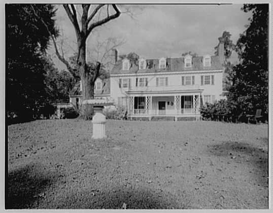 John Tyler, Sherwood Forest, residence in Virginia. General view from south