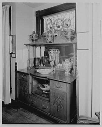 President Warren G. Harding, residence in Marion, Ohio. Sideboard