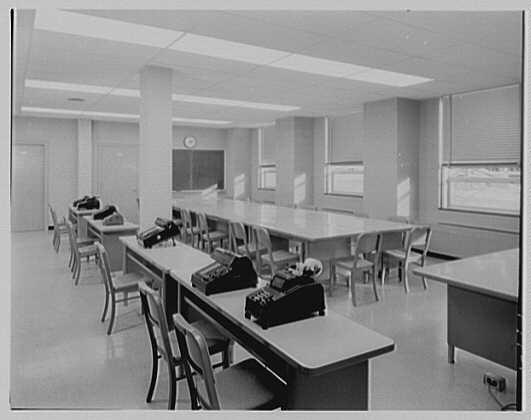 Wright Hall, Smith College, Northampton, Massachusetts. Statistical room