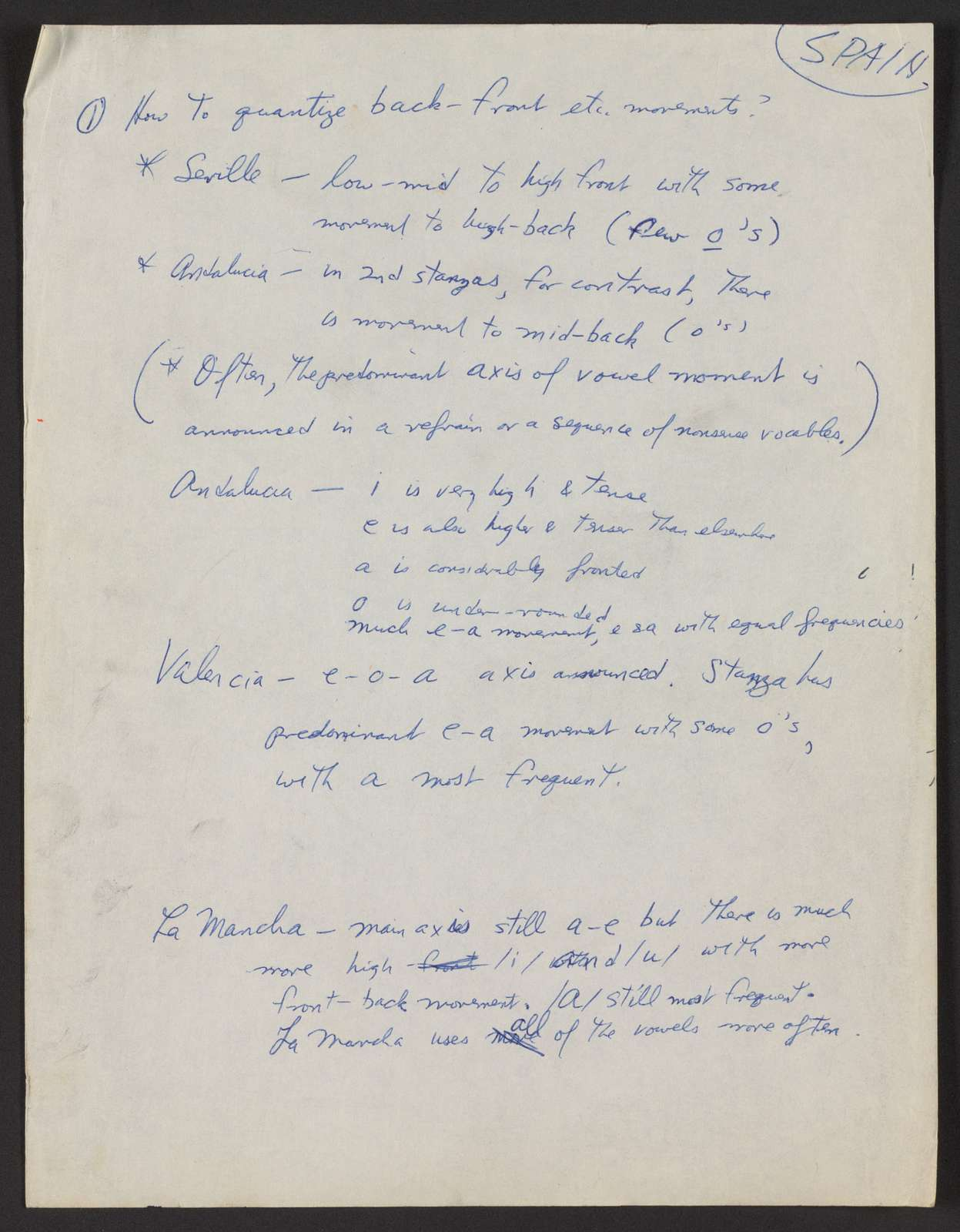 Alan Lomax Collection, Manuscripts, Performance style, writings, published, Phonotactics in Folk Song, with Edith Trager, 1964