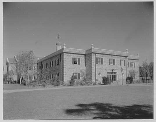 C.W. Post College, Brookville, Long Island. Humanities Building, from south