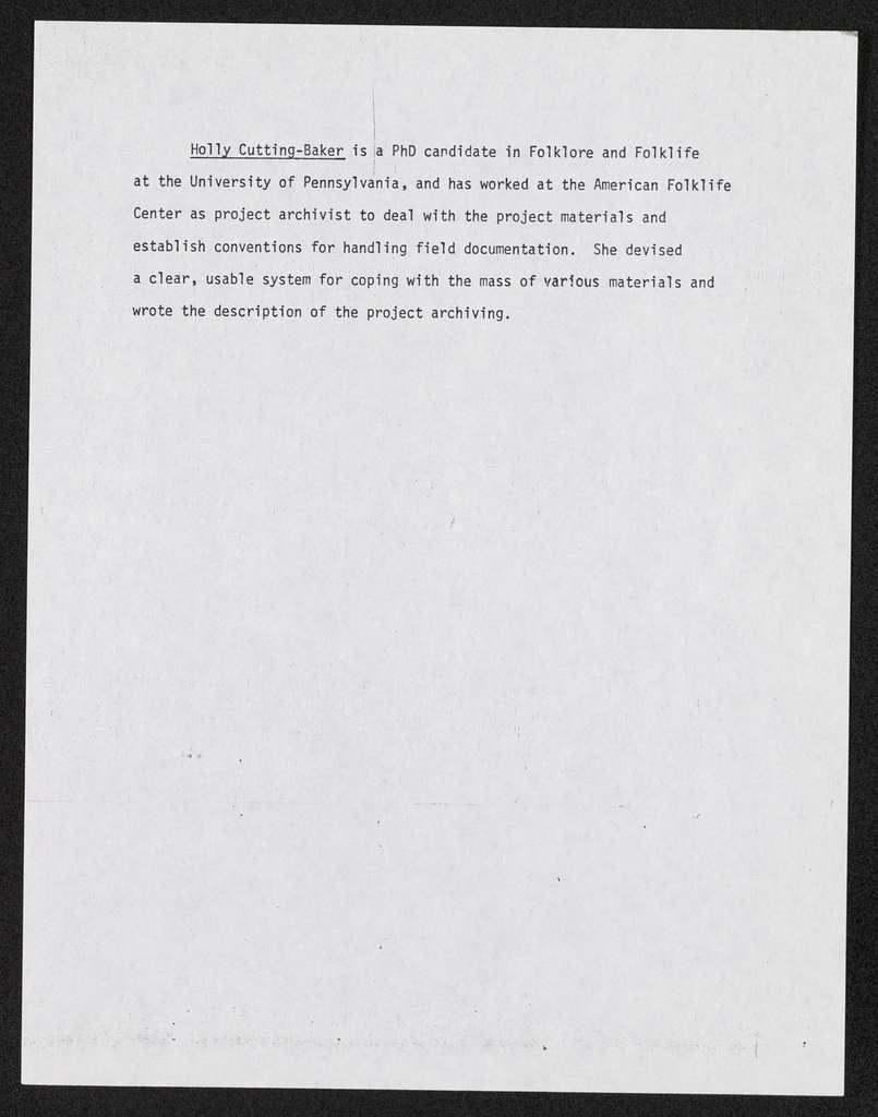 Book -- Original Manuscripts -- Holly Cutting-Baker