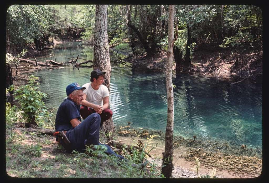 "House Creek, ""the boils"" (springs), fishermen, Ben Hill County, Georgia"