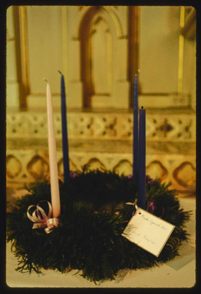 Advent wreaths at St. Joseph's Church (Roman Catholic), Central Falls, Rhode Island