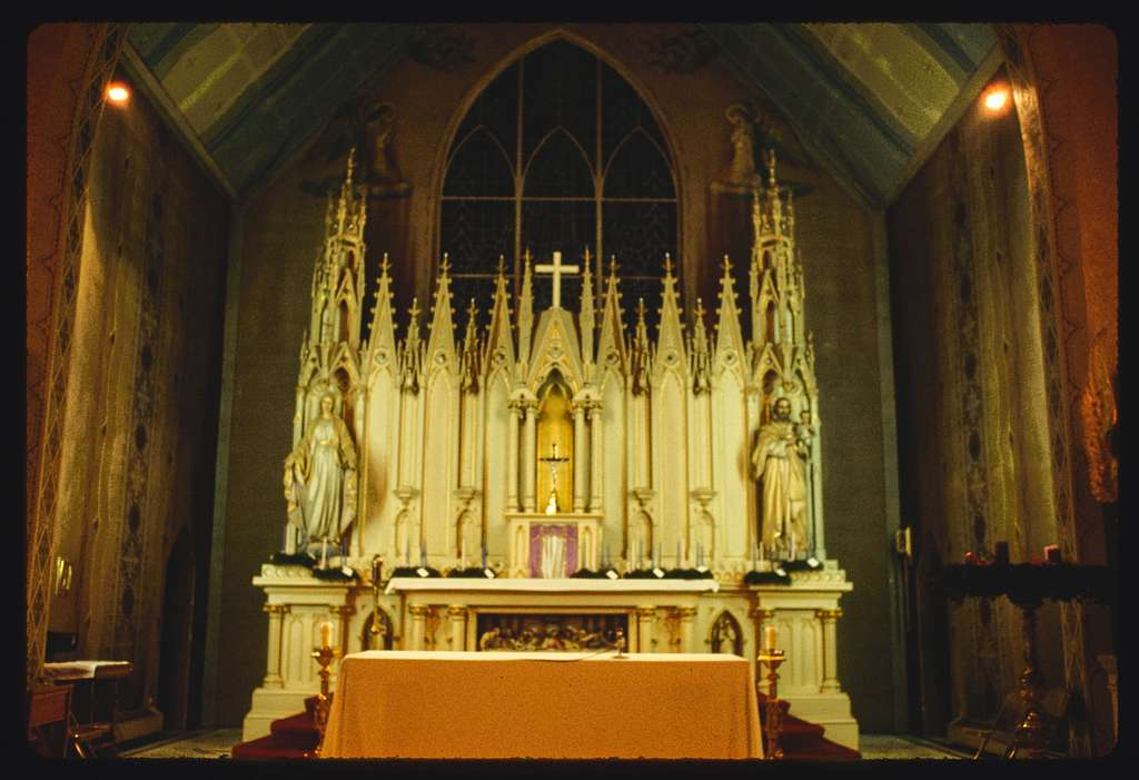 Blessing of Advent wreaths, Saturday Mass, St. Joseph's Church (Roman Catholic), Central Falls, Rhode Island